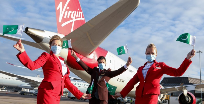 Virgin Atlantic's first Manchester to Islamabad flight takes off