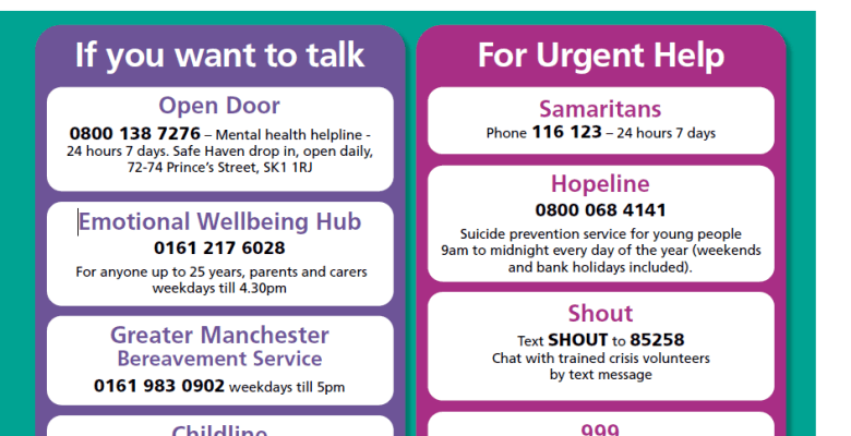 Stockport employers encouraged to share mental health resources with staff