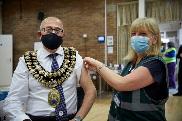 Mayor of Stockport Cllr Adrian Nottingham gets second Covid-19 vaccine dose