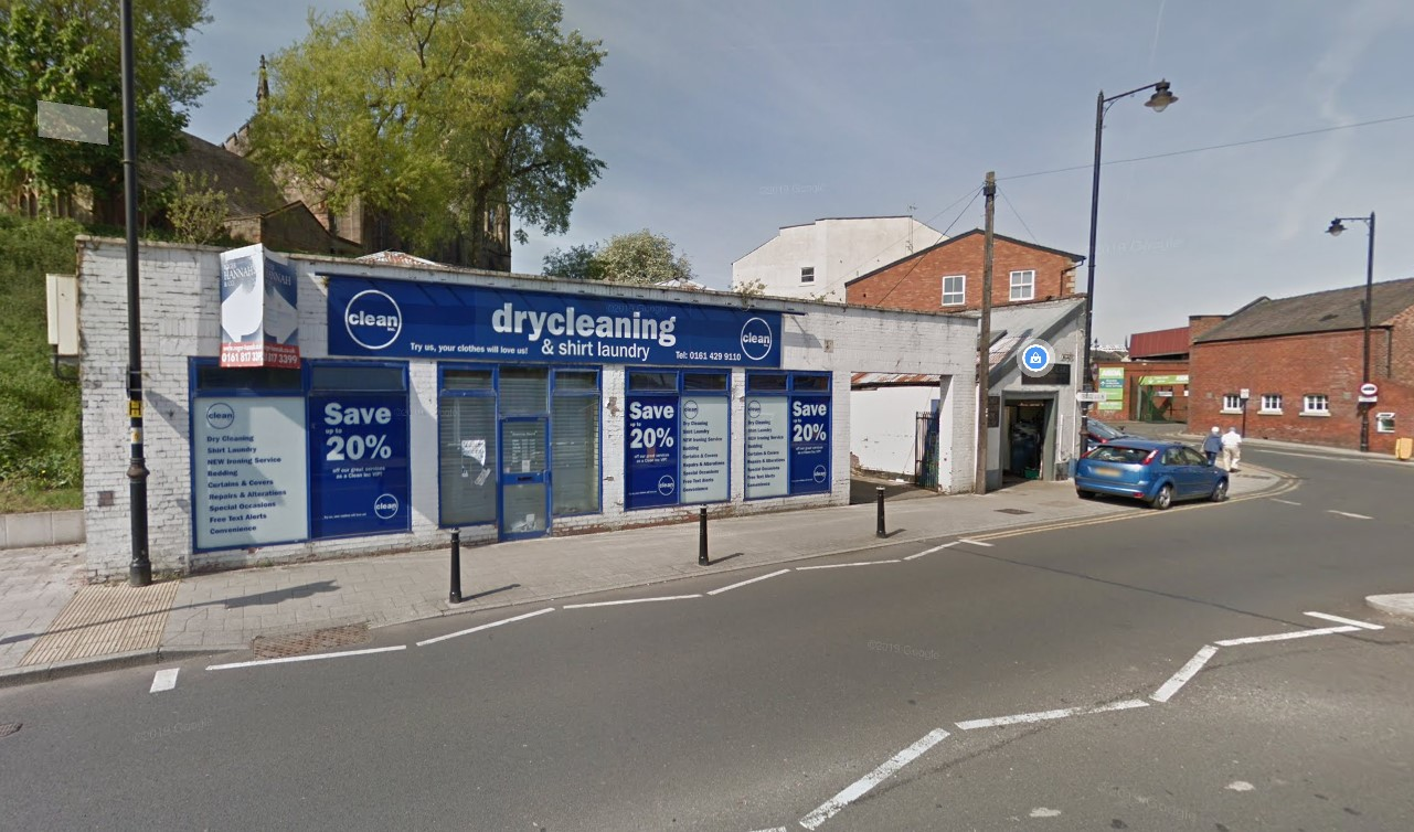 The former dry cleaners at 34 Millgate is currently unoccupied