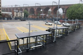 A temporary bus station at Heaton Lane Car Park will allow work to begin on Stockport's new bus interchange