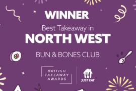 Stockport Burger Joint celebrates british takeaway awards win