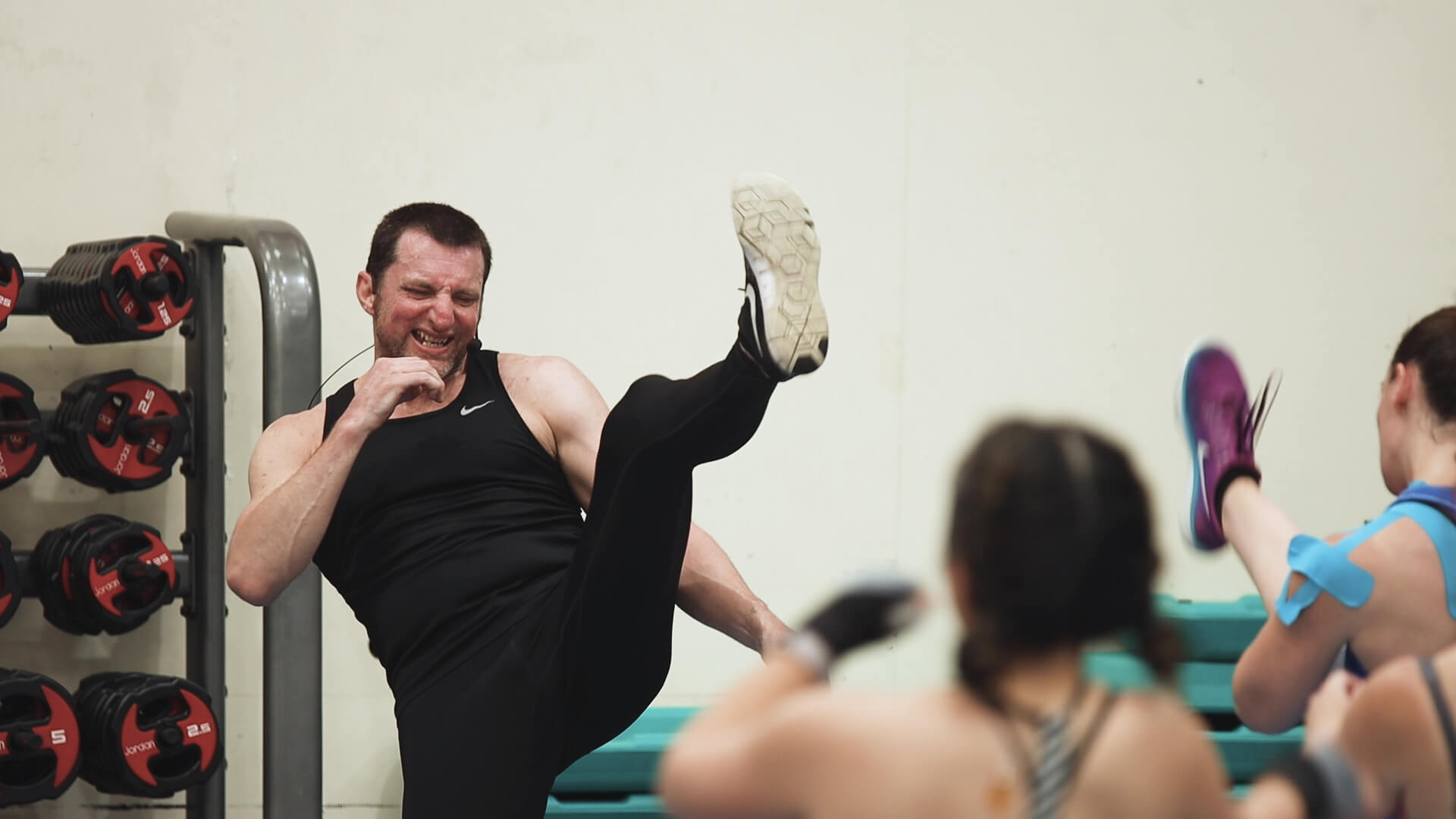 Body Combat Instructor Dave Smith was one of the instructors leading the marathon