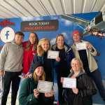 Halliday team jump 15,000 feet for Francis House