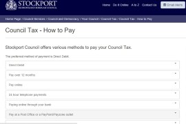 Stockport - how to pay your council tax