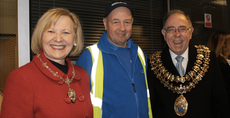 Mayor of Stockport visits Solutions Sk