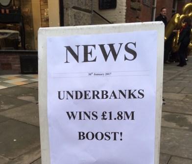 Stockport Underbanks £1.8m funding pot