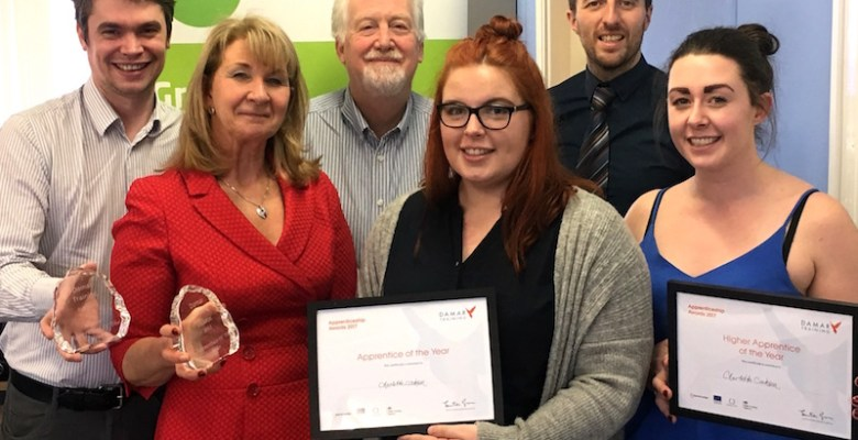 Charlotte - Winner of Damar Training Apprenticeship Award 2017