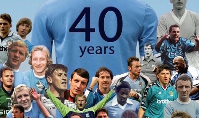 Manchester City Veterans celebrating 40 years