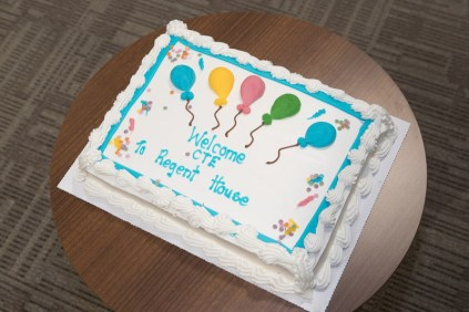 Celebratory cake for Capita Travel and Events