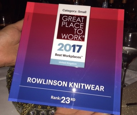 Rowlinson Ranked in UK Best Workplaces 2017