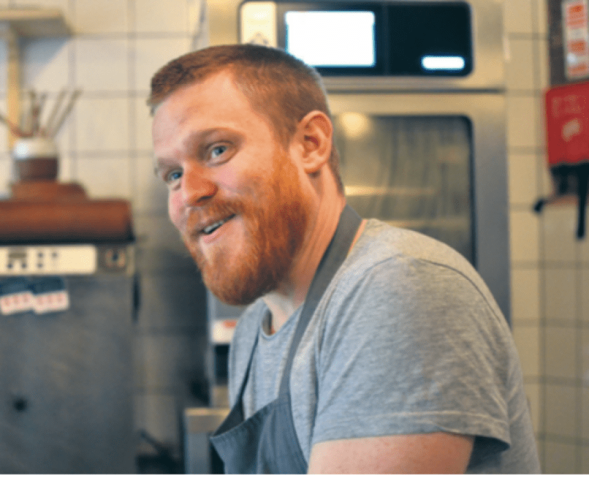 Sam Buckley from Where The Light Get's In - Best newcomer at the Manchester Food & Drink Festival awards 2017