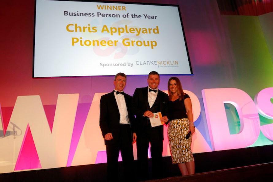 Business Person of 2016 Chris Appleyard, Pioneer Group