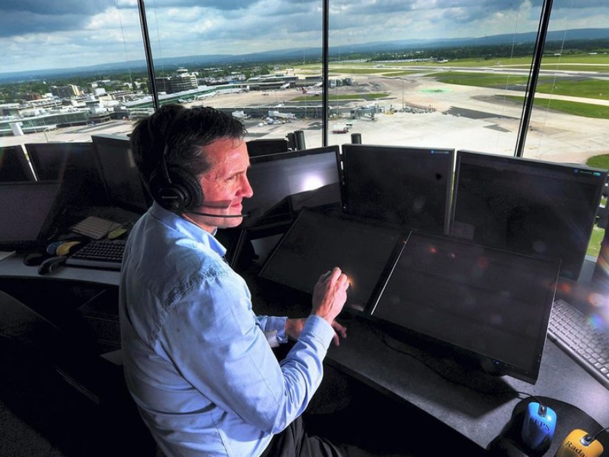 the best office in Manchester at Manchester airport control tower