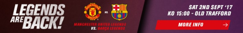 MUFC and FC Barcelona in Legends Match at Old Trafford