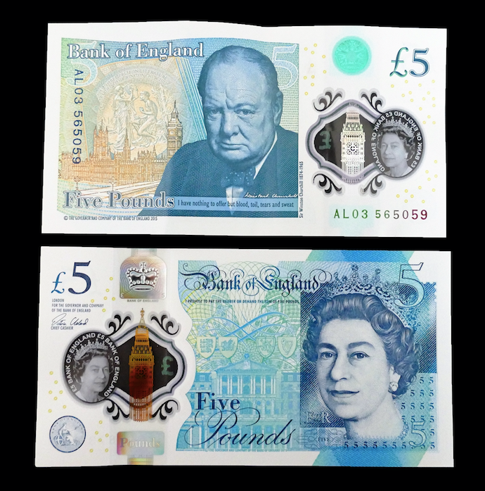 No change for the new five pound note