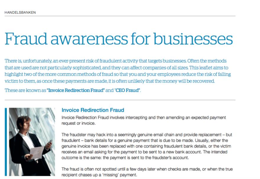 Fraud Awareness Leaflet