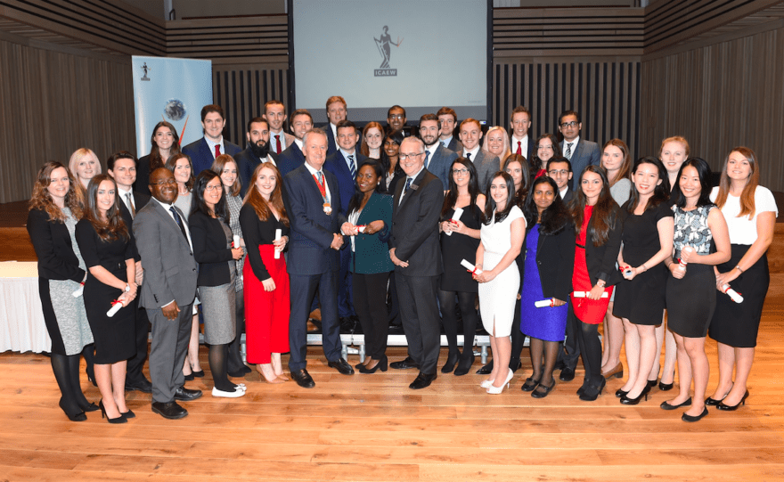 Manchester's newly qualified trainees with ICAEW Manchester President Anthony Woodings (centre right).jpg