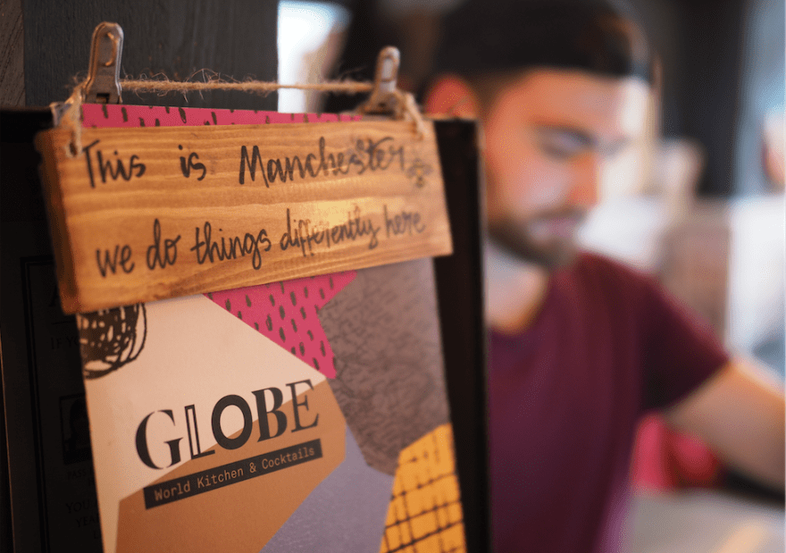Globe, a new restaurant in Chorlton has had its brand identity created by Dawn