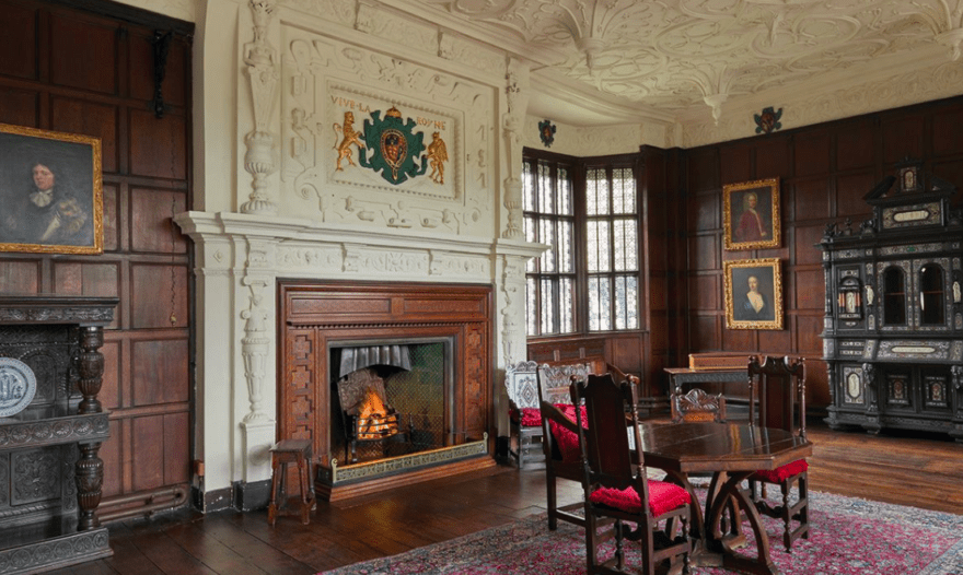 The Withdrawing Room at Bramall Hall, winner of a conservation award