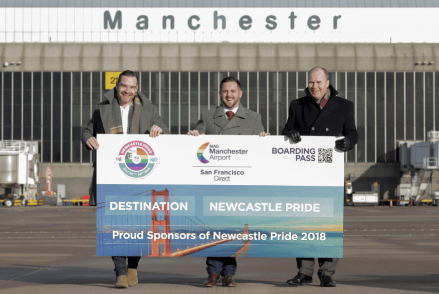 ManchesterAirport back on board at Newcastle Pride