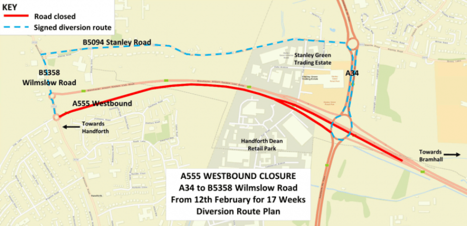 A555 set to close for 17 weeks while essential repairs are carried out