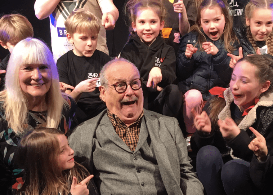 Bobby Ball entertains the company at NK Theatre Arts