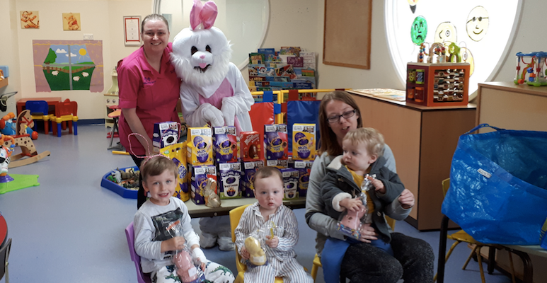 The Easter Bunny pays a visit to The Tree House Centre