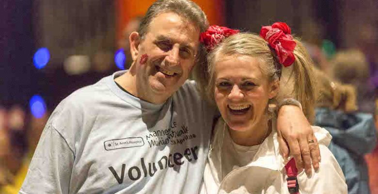 Eamonn O'Neal and Sally Lindsay at the Manchester Midnight Walk