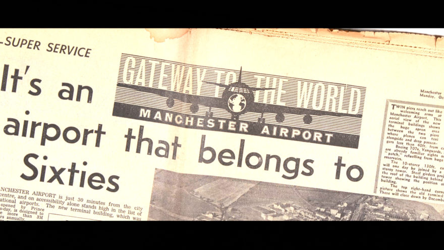 Manchester Airport celebrates 80th anniversary with Tony Walsh