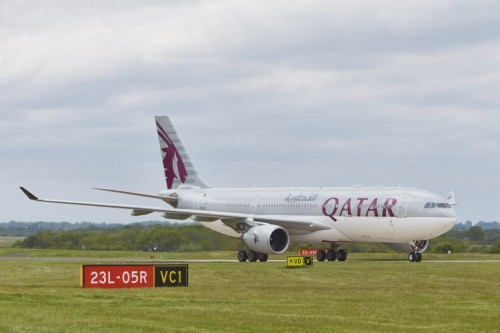 Manchester to Doha Qatar airways hufton&crow