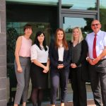 Prest new appointments: pictured left-to-right are: Lisa Livesey, Beth Torkington, Shelby Gillespie, Emma Hilton and Graham Prest.