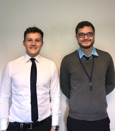 Vernon Building Society has expanded the marketing team with Alex (left) and Adam