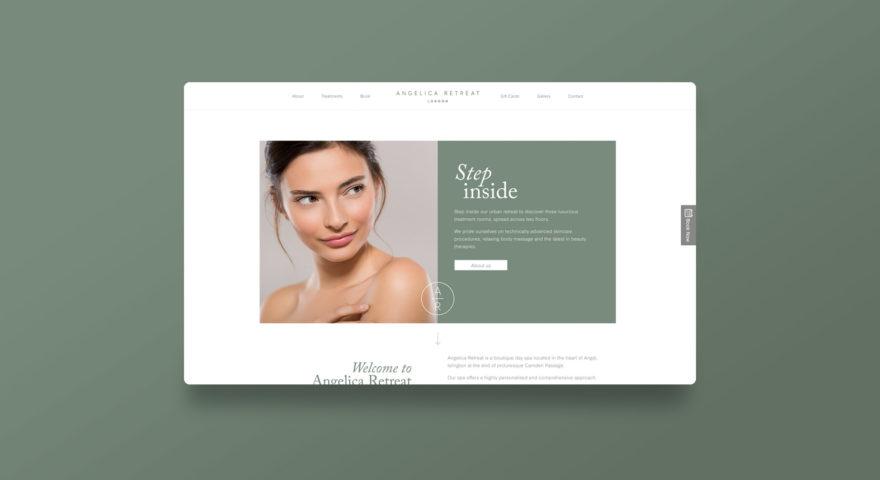 Dawn Creative create new website for Angelica Retreat