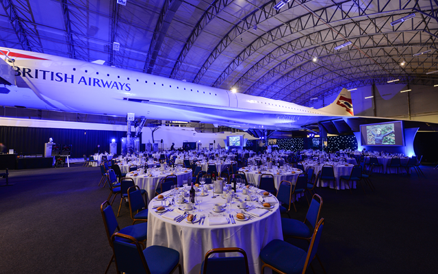 Gala Dinner under Concorde at Manchester Airport Visitors Park