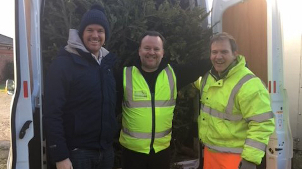 St Ann's Christmas Tree Collection l-r Mark Heppell, Nick Hinton, Andrew Smith.