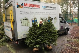 Midshire Support Charity Christmas tree collection