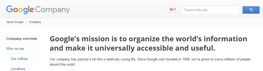 the-google-mission-statement