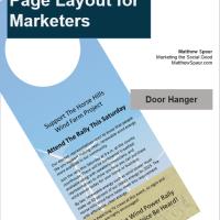 Free download! Door Hanger Design Template for Microsoft PowerPoint