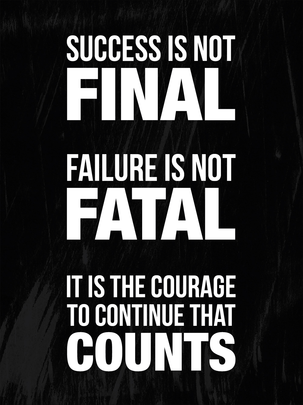 Success Is Not Final Failure Is Not Fatal It Is The Courage To Continue That Counts Quote Art Marketing Your Art The Right Way