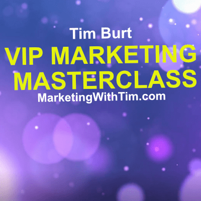 Marketing Masterclass with Tim Burt