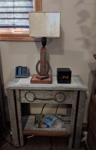 Market Junction and Railway Cafe Antique Market Handmade Wooden End Table Woodworking Designs by Cliff Raskob Cremona Alberta Explore Alberta Tourism Woodworking end table furniture