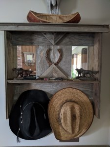 Market Junction and the Cozy Cup Cafe Antique Market Handmade Wooden mirror and coat hooks Woodworking Designs by Cliff Raskob Cremona Alberta Explore Alberta Tourism Woodworking mirror and coat hooks