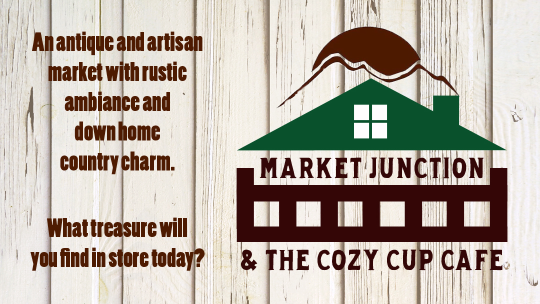 Market Junction and The Cozy Cup Cafe Antique Artisan and Boutique Market Cremona Alberta Shop Local Alberta Support Alberta Artisans