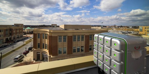 The Cube could be placed in all sorts of unusual places including rooftops.