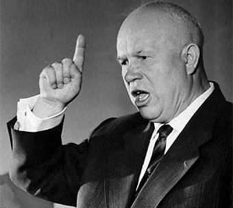 Vladimir Putin's real political hero and rule model Nikita Khrushchev.