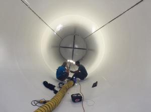 Inside of a Hyperloop Test Tube