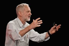 Jeremy Corbyn on the campaign trail. Notice he and Bernie have the same gestures and apparently the same shirt.