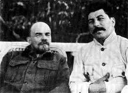 Lenin late in life, hanging out with his best friend and star pupil Joseph Stalin.