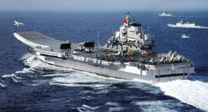 One of China's aircraft carriers the Liaoning